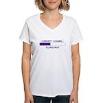 CURIOSITY LOADING... Women's V-Neck T-Shirt