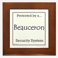 Beauceron Security Framed Tile