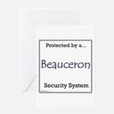 Beauceron Security Greeting Card