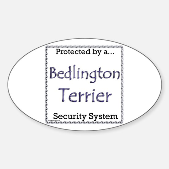 Bedlington Security Oval Decal