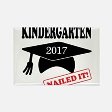 2017 Kindergarten Nailed It Rectangle Magnet