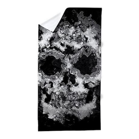 Wet Skull Beach Towel by ADMIN CP