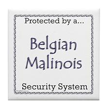 Malinois Security Tile Coaster
