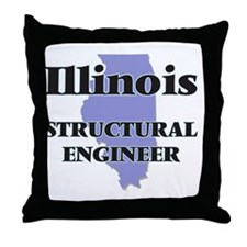 Illinois Structural Engineer Throw Pillow