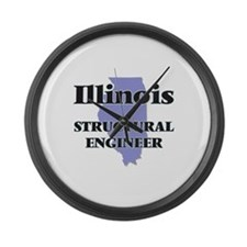 Illinois Structural Engineer Large Wall Clock