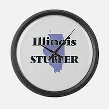 Illinois Stuffer Large Wall Clock