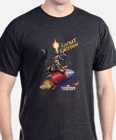 GOTG Comic Rocket Painting T-Shirt
