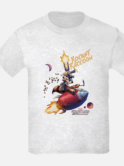 GOTG Comic Rocket Painting T-Shirt