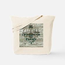 shabby chic barn vintage chandelier Tote Bag