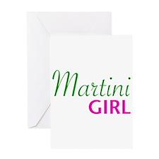 Martini Girl Greeting Card