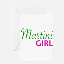 Martini Girl Greeting Card