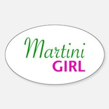 Martini Girl Oval Decal