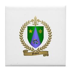 GODET Family Crest Tile Coaster