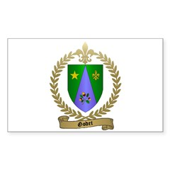 GODET Family Crest Rectangle Decal