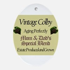 Vintage Colby Oval Ornament