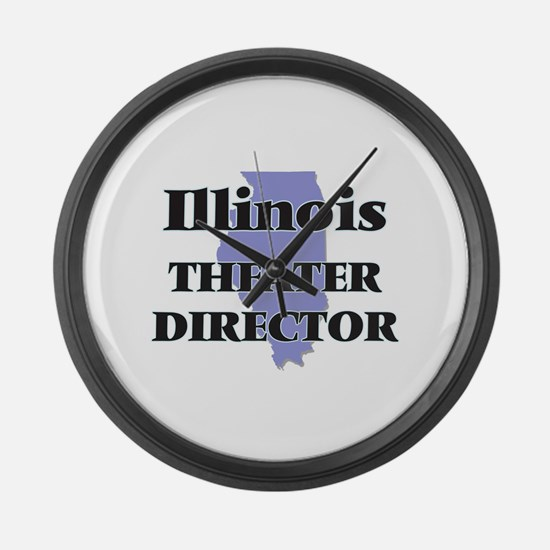 Illinois Theater Director Large Wall Clock