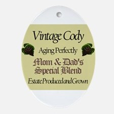 Vintage Cody Oval Ornament