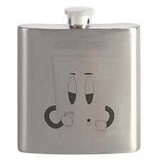 Sleepy Coffee Cup Flask