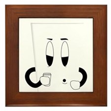 Sleepy Coffee Cup Framed Tile