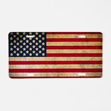 Cute Usa flags Aluminum License Plate