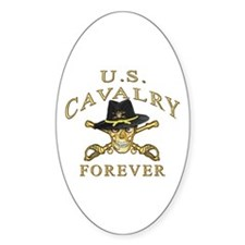Cavalry Forever Oval Decal