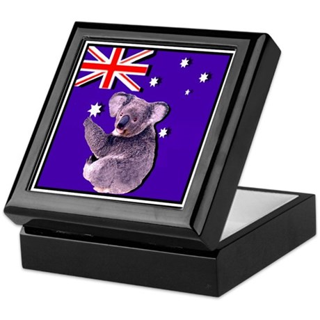 Australia Flag & KOALA Keepsake Box