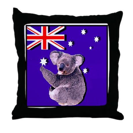 Australia Flag & KOALA Throw Pillow