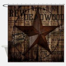 primitive  texas lone star cowboy Shower Curtain