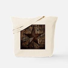primitive  texas lone star cowboy Tote Bag