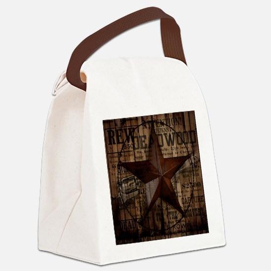 primitive  texas lone star cowboy Canvas Lunch Bag