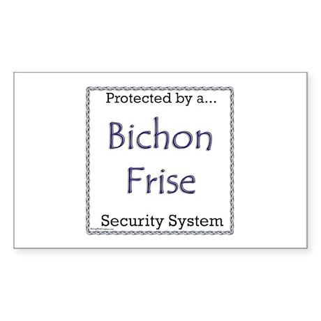 Bichon Security Rectangle Sticker