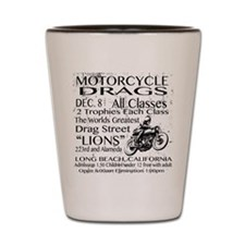 Vintage Race poster Motorcycle Shot Glass