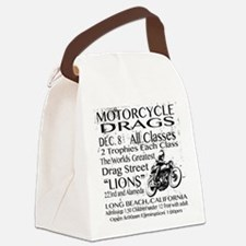 Vintage Race poster Motorcycle Canvas Lunch Bag