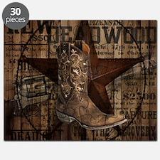 equestrian cowboy boots western  Puzzle