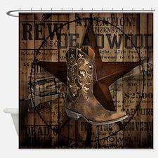equestrian cowboy boots western  Shower Curtain