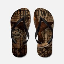 equestrian cowboy boots western  Flip Flops