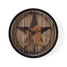 equestrian cowboy boots western  Wall Clock