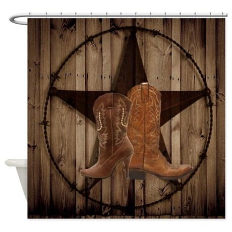 Equestrian Cowboy Boots Western Shower Curtain By Listing Store 62325139