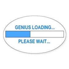 GENIUS LOADING... Oval Sticker