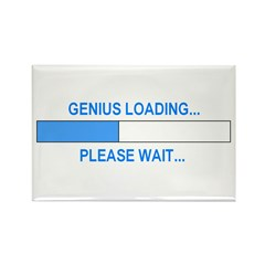 GENIUS LOADING... Rectangle Magnet (10 pack)