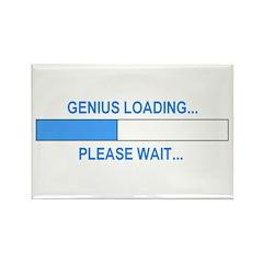 GENIUS LOADING... Rectangle Magnet (100 pack)