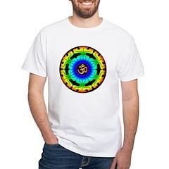 Om Mandala White T-Shirt