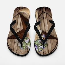 rustic barn texas cowgirl boots Flip Flops