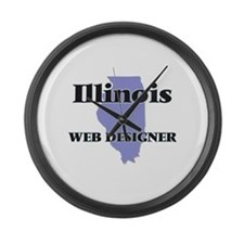 Illinois Web Designer Large Wall Clock