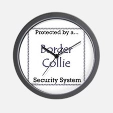 Border Collie Security Wall Clock