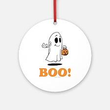 Boo Round Ornament