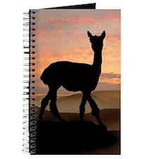 Alpaca Sunset Journal
