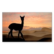 Alpaca Sunset Rectangle Decal