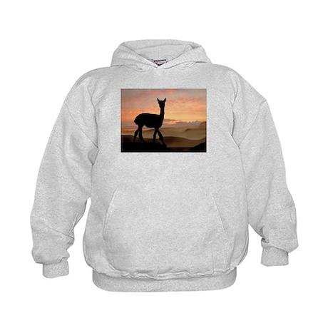 Alpaca Sunset Kids Hoodie
