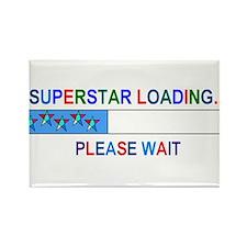 SUPERSTAR LOADING... Rectangle Magnet